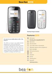 Beafon S210 S210EU_001 Leaflet