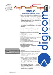 Digicom SNM 50 8D1821 Leaflet