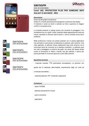 Phonix S9070GPR Leaflet