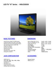 Sansui HDLCD2650 Leaflet