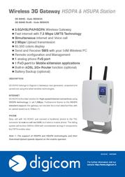 Digicom 3G SOHO 8D5634 User Manual