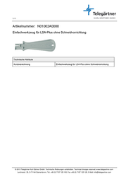 Telegaertner TELEGARTNER ANLEGEWERKZEUG LSA-PLUS N01002A0000 Information Guide