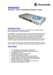 Dynamode Managed QoS 24-Port 10/100 Plus MiniGBIC/Gigabit SW2404GI Benutzerhandbuch