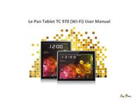 Le Pan TC970 User Manual
