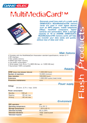 Dane-Elec CompactFlash Card 2Gb DA-CF-2048-D Leaflet