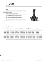 Th Contact Joystick 250 Vac Toggle Soldering 1 pc(s) S741001 Data Sheet