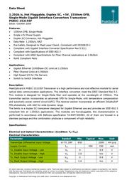 PeakOptical PGBIC-15215SF Data Sheet