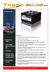 Tagan TG400-U33II SuperRock TG-U33II 400W Leaflet