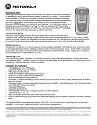 Motorola V360 Blue V360 Dépliant