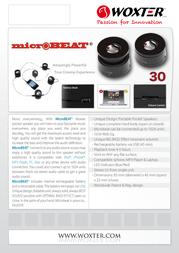 Woxter MicroBeat 30 BT26-001 产品宣传页