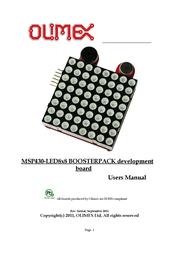 Olimex Launchpad matrix 8X8 LED matrix MSP430-LED8x8BOOSTER MSP430-LED8x8BOOSTER User Manual