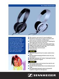 Sennheiser HD 437 005175 Leaflet