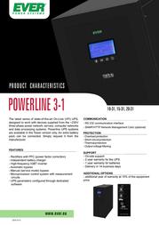 Ever Poweline 31 - 15kVa/10,5kW T/PWRLTO-315K00/00 User Manual