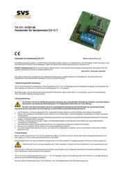 Svs Nachrichtentechnik 01281.90 433MHz Radio Component 01281.90 Data Sheet