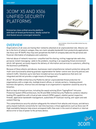 Tipping Point X506 Anti-Spam Filter Service 3CX506-AS-E Data Sheet