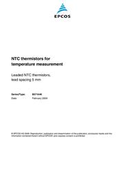 Epcos N/A HEISSLEITER, TEMPERATURKOMP./-MESSUNG, K R B57164K472J Data Sheet