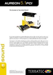 Terratec SoundSystem Aureon 5.1 PCI 10063 Leaflet