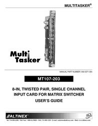 ALTINEX MT107-203 User Manual
