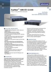 Infortrend A12U-G1410 SATA single controller RAID with SCSI-320, 12-drive in 2U chassis A12U-G1410-M1 Leaflet
