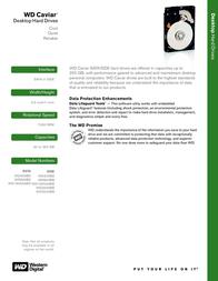 Western Digital HD Caviar 120GB EIDE, 100 MB/s, 2 MB Cache, 7200 RPM WD1200BB Leaflet
