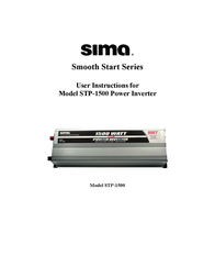 Sima 1500 Watt Titanium STP-1500 User Manual
