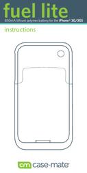Case-mate iPhone 3G/3GS Battery Case CM010092 User Manual