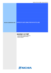 Nichia SMD LED non-standard White 2600 mcd 120 ° 20 mA 3 V NHSW157BT 데이터 시트