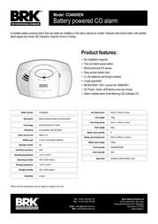 BRK CO4000 CO4000EN Leaflet