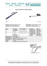 Kyoritsu KEW-8112BNCClip-on ammeter adapter 0 - 120 A (± 1 %) 8 mm KEW-8112BNC Data Sheet