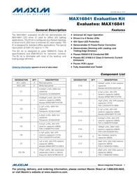 Maxim Integrated MAX16841 Evaluation Kit MAX16841EVKIT# MAX16841EVKIT# Data Sheet