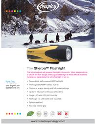 Freeplay LED Torch Sherpa dynamo-powered 370 g Black-yellow A206-SLE-YL2-0000-FP Data Sheet