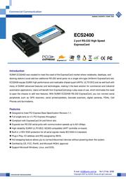 Sunix ECS2400 User Manual