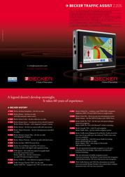 Becker Traffic Assist Z205 2062.135 Leaflet