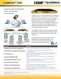 KEMP Technologies LoadMaster LM-2600 LM-2600 Leaflet
