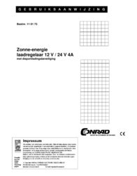 Phaesun Solar charge controller 12 V, 24 V 4 A 200013 Data Sheet