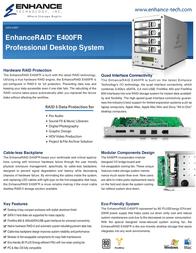 Enhance E400FR Leaflet