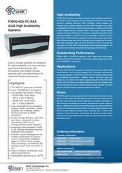 Qsan Technology AegisSAN F300Q F300Q-S424 Leaflet