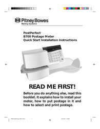 Pitney Bowes B700 User Manual