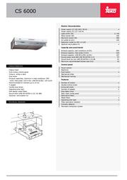 Teka CS 6000 40447007 Leaflet