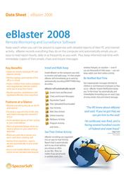 Spectorsoft eBlaster 42 Data Sheet