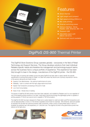 digipos ds-900 Specification Guide