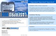 Beltronics Laser Pro 904 Quick Setup Guide