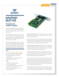 QLogic SDR 4x InfiniBand to PCI Express x8 Host Channel Adapter QLE7140-SP Leaflet