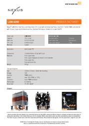 Nexus LXM-8200   Socket LGA775 CPU Cooler LXM-8200 Leaflet