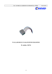 Wallair Ventilation technology Delayed Shut-off Relay Grey 20100250 User Manual