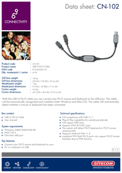 Sitecom Adapter Cable CN-102 Leaflet