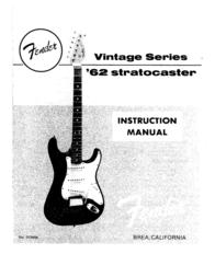 Fender 62 User Manual