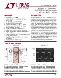 Linear Technology LT1131ACNW Linear IC DIP28 Low-power 5V RS232 driver/receiver LT1131ACNW Data Sheet