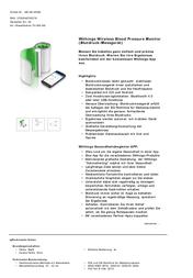 Withings BP-801 WPM02 Data Sheet
