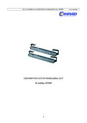 Dino LED-daytime running light and parking light 20 LEDs. 610790 Data Sheet